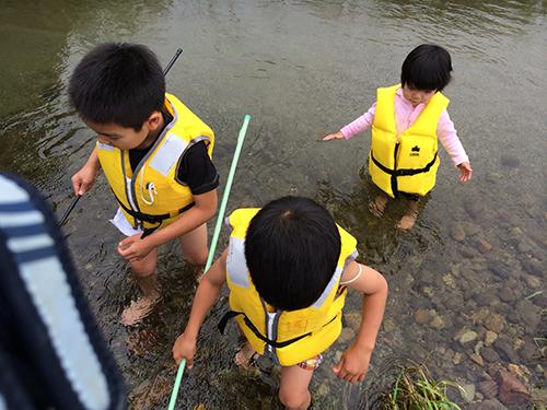 川遊び@馬見ヶ崎川下流