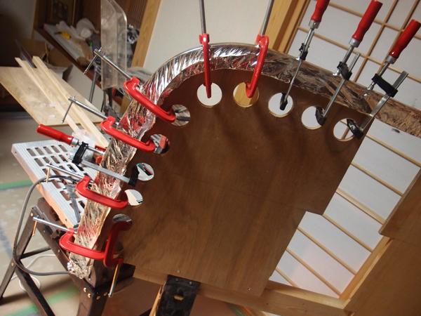 カヌー制作 ~ステムの制作・材料の挽き割りと曲げ加工~