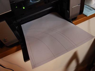モールドの型紙製作