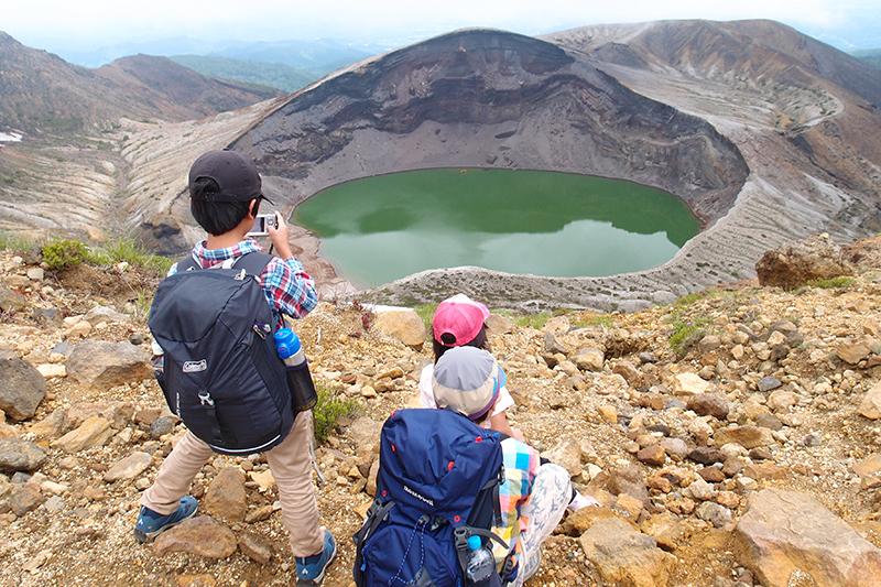 蔵王御釜→熊野岳