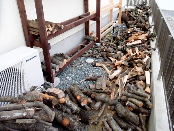 薪の整頓♪