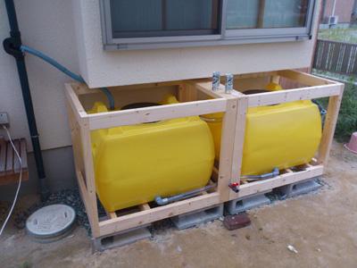 雨水タンクの清掃