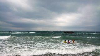 海水浴@湯野浜