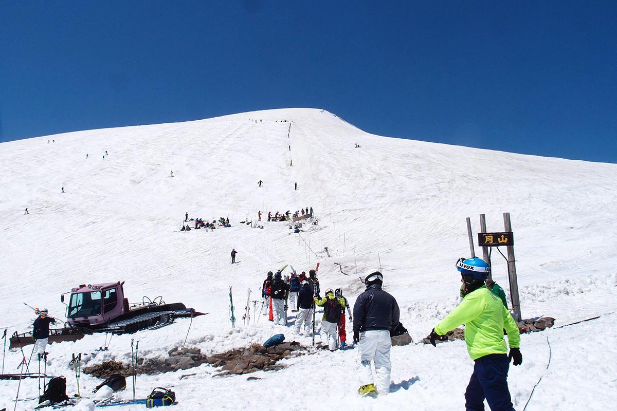姥ヶ岳 Tバーリフト コブ斜面