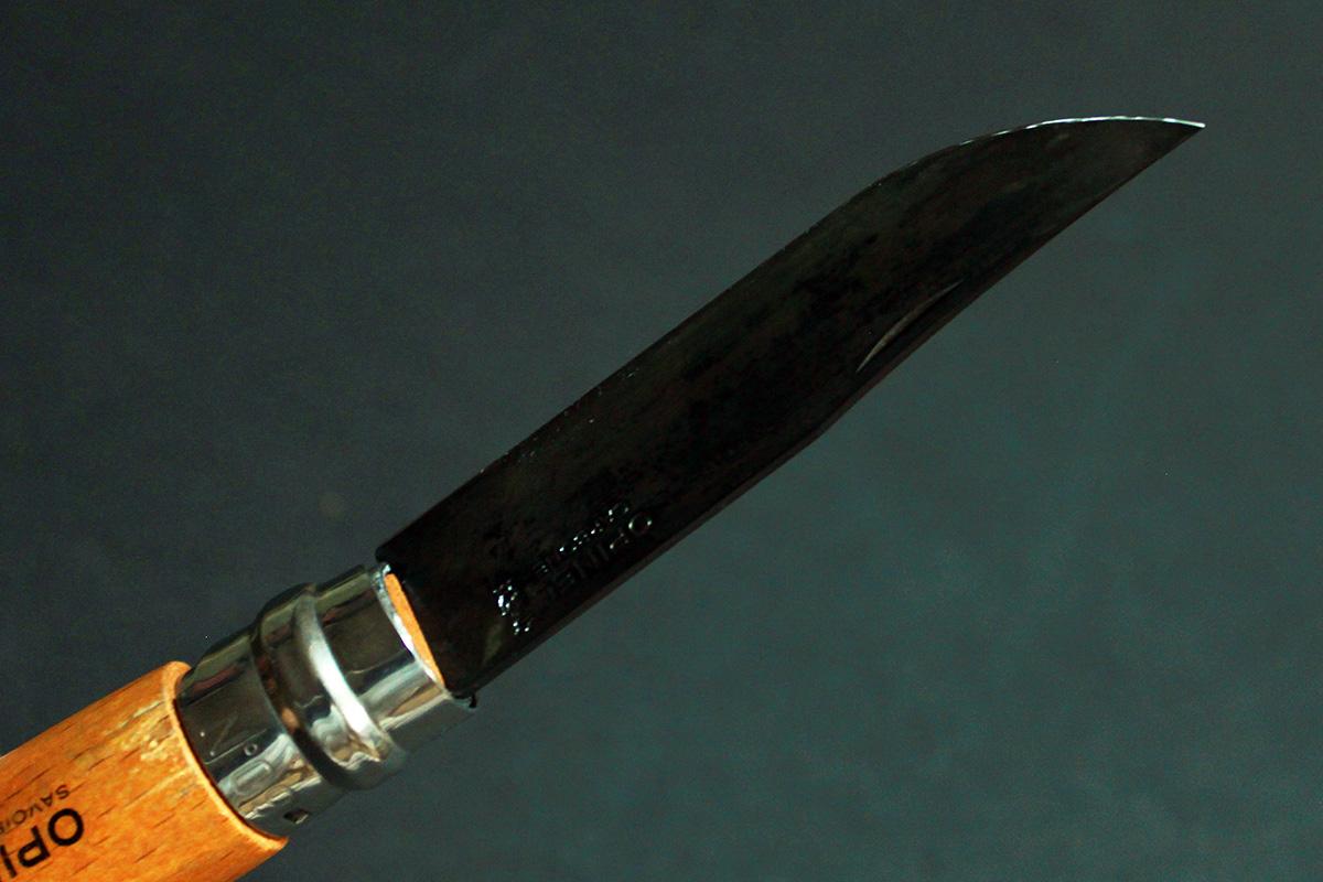 オピネルの分解手順&BIRCHWOOD スーパーブルー液を使った黒錆加工の紹介