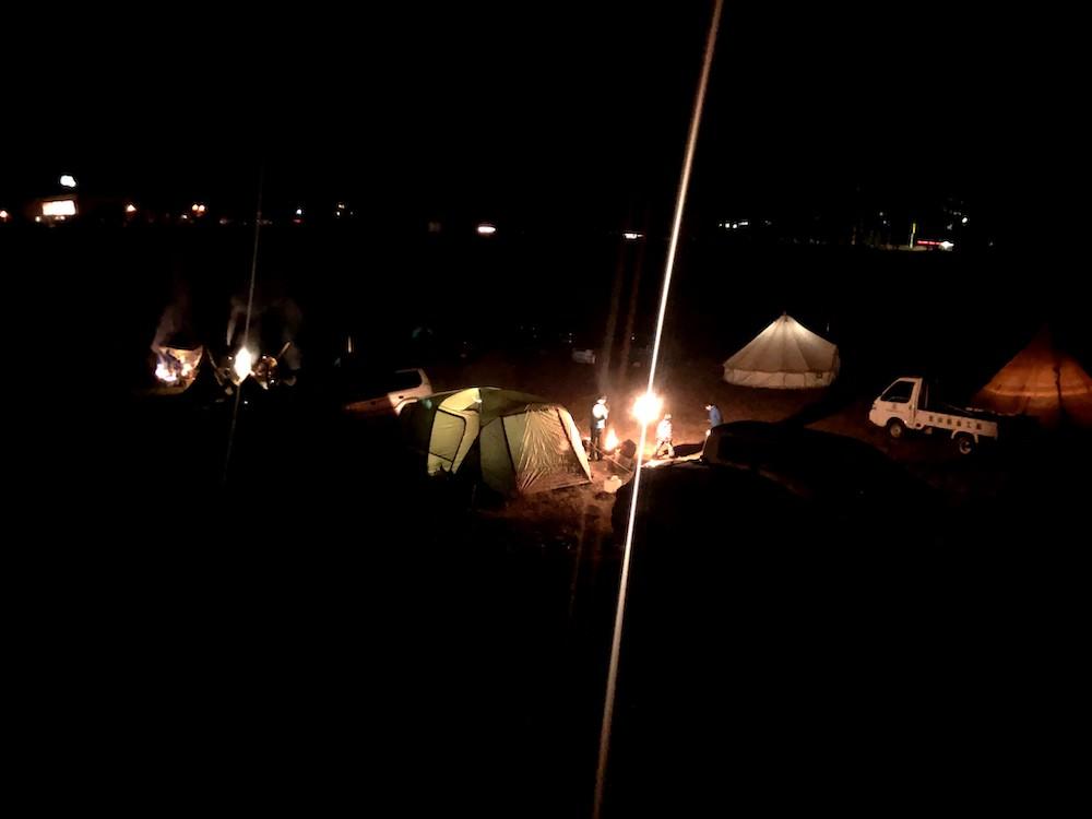新年会は冬キャンプで!@唐松観音前広場