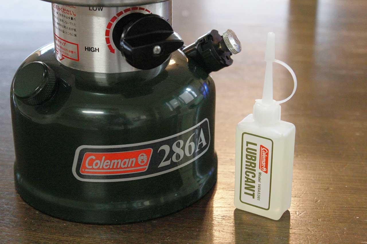 コールマン286A リュブリカント(潤滑オイル)の挿し方