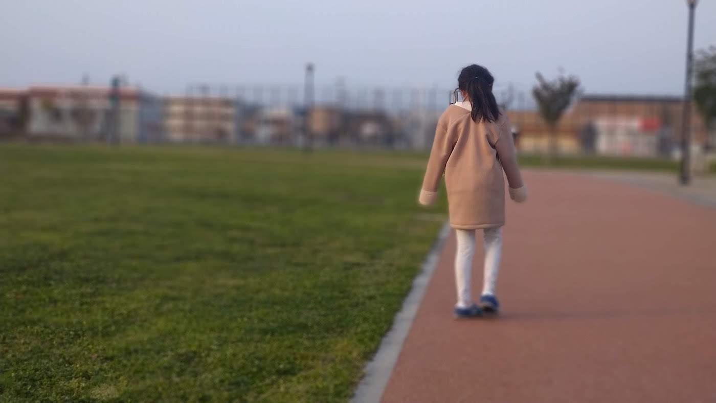 こはると2人で早朝の散歩