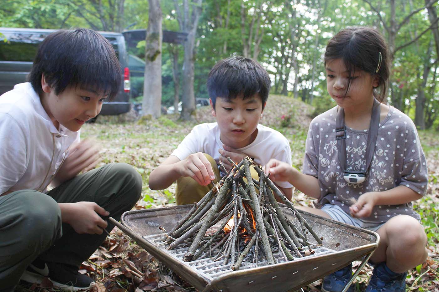 久しぶりのいこいの森キャンプ場で焚き火キャンプ!